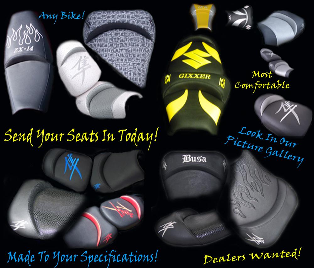 Custom Shaped & Covers Sportbike Seats